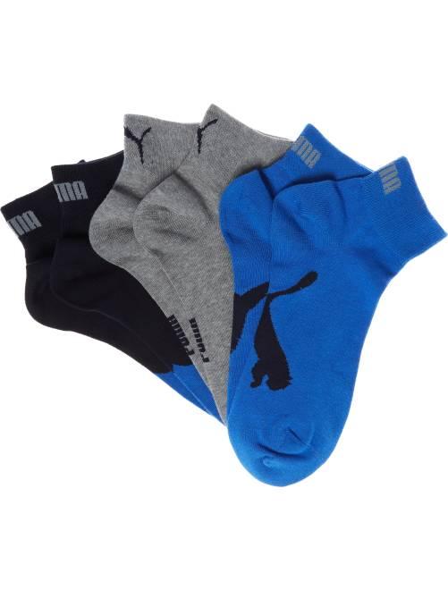 Lote de 3 pares de calcetines bajos 'Puma'                                                                 azul