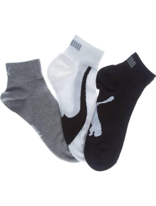 Lote de 3 pares de calcetines bajos 'Puma'                                             blanco/gris/negro