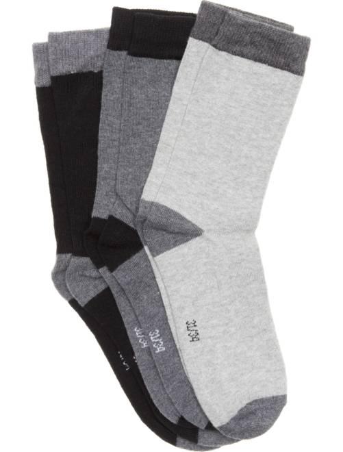 Lote de 3 pares de calcetines                                         gris/negro Chico