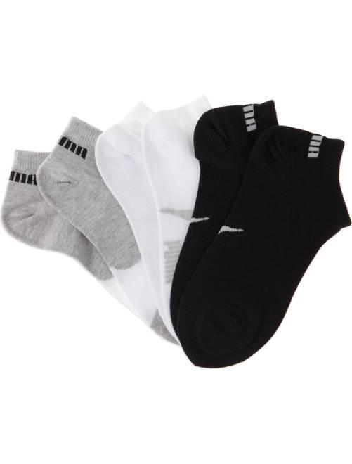 Lote de 3 pares de calcetines 'Puma' de caña corta                                             blanco/gris/negro