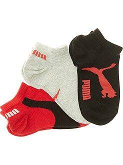 Niña 10-18 años Lote de 3 pares de calcetines 'Puma' de caña corta