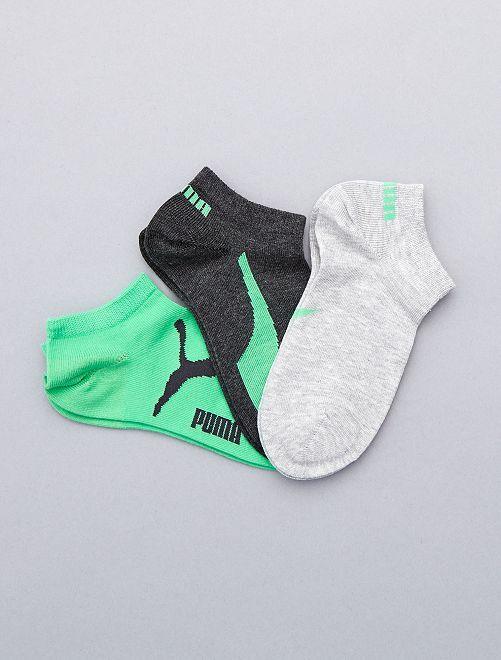 Lote de 3 pares de calcetines 'Puma' de caña corta                                                                 VERDE Joven niño