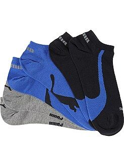 Hombre - Lote de 3 pares de calcetines tobilleros 'Puma' - Kiabi