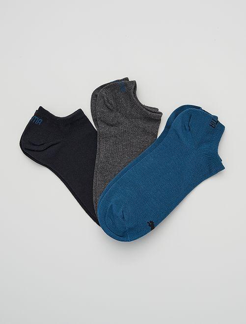 Lote de 3 pares de calcetines tobilleros 'Puma'                                                                                                                                                     AZUL