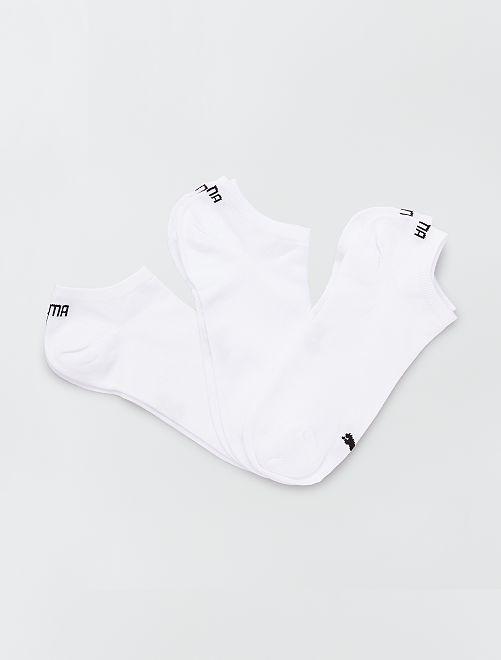 Lote de 3 pares de calcetines tobilleros 'Puma'                                                                             blanco