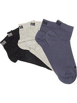Lote de 3 pares de calcetines tobilleros 'Puma' de caña corta