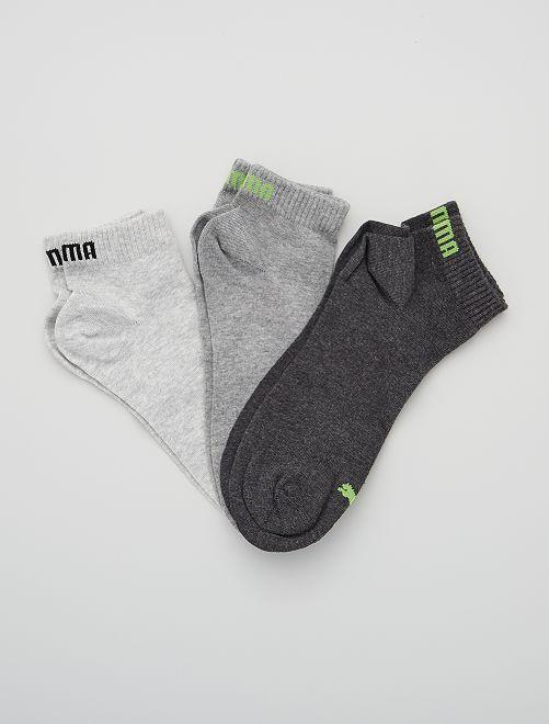 Lote de 3 pares de calcetines tobilleros 'Puma' de caña corta                                                                                                                                         GRIS