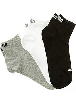 Hombre Lote de 3 pares de calcetines tobilleros 'Puma' de caña corta