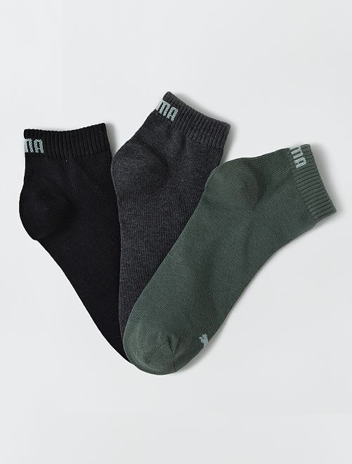 Lote de 3 pares de calcetines tobilleros 'Puma' de caña corta                                                                                                                 KAKI