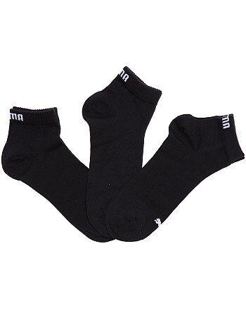Hombre - Lote de 3 pares de calcetines tobilleros 'Puma' de caña corta - Kiabi