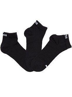 Calcetines - Lote de 3 pares de calcetines tobilleros 'Puma' de caña corta