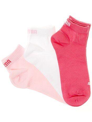 Lote de 3 pares de calcetines tobilleros 'Puma' de caña corta - Kiabi