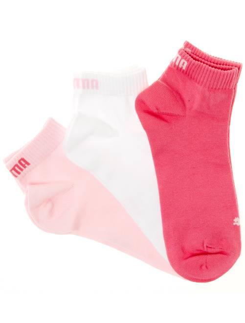 Lote de 3 pares de calcetines tobilleros 'Puma' de caña corta                                                                                                                 rosa/blanco Lencería de la s a la xxl