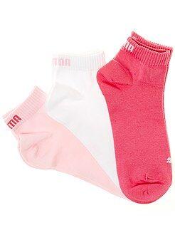 Calcetines de deporte - Lote de 3 pares de calcetines tobilleros 'Puma' de caña corta