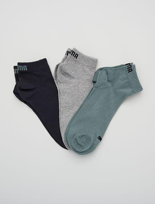 Lote de 3 pares de calcetines tobilleros 'Puma' de caña corta                                                                                                                                         VERDE