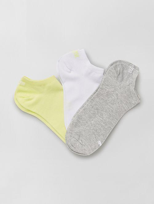 Lote de 3 pares de calcetines tobilleros 'Puma'                                                                                                                                                     GRIS