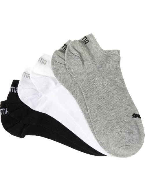 Lote de 3 pares de calcetines tobilleros 'Puma'                                                     gris/blanco/negro