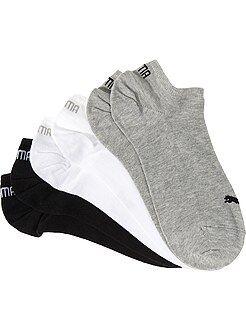 Lote de 3 pares de calcetines tobilleros 'Puma'