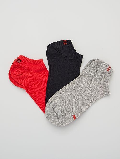 Lote de 3 pares de calcetines tobilleros 'Puma'                                                                                                                                                     ROJO