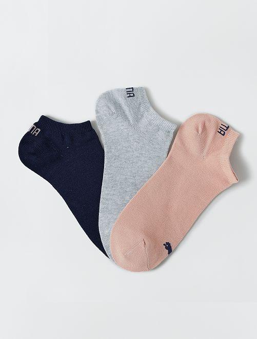 Lote de 3 pares de calcetines tobilleros 'Puma'                                                                             ROSA