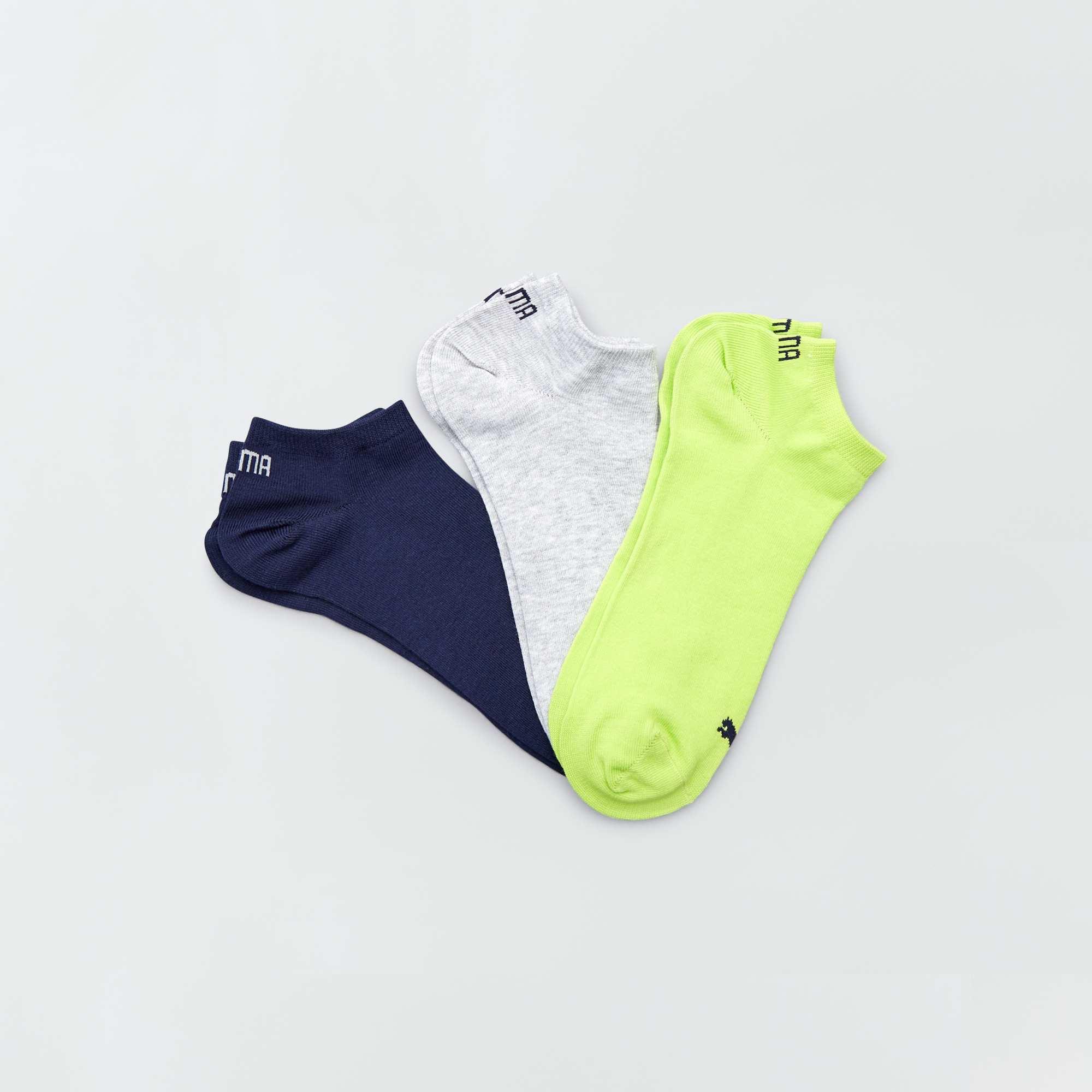 fb2a6b03c0f15 Lote de 3 pares de calcetines tobilleros  Puma  VERDE Hombre. Loading zoom