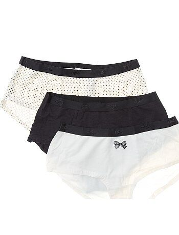 Lote de 3 shorties DIM 'Les Pockets' - Kiabi