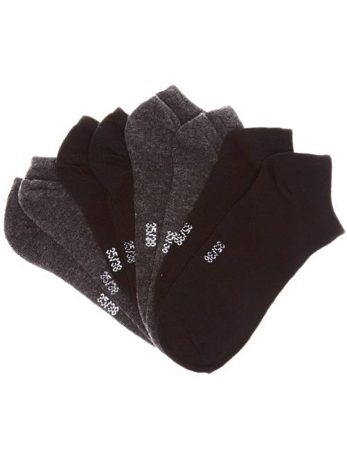 Lote de 4 pares de calcetines invisibles                                         negro/gris