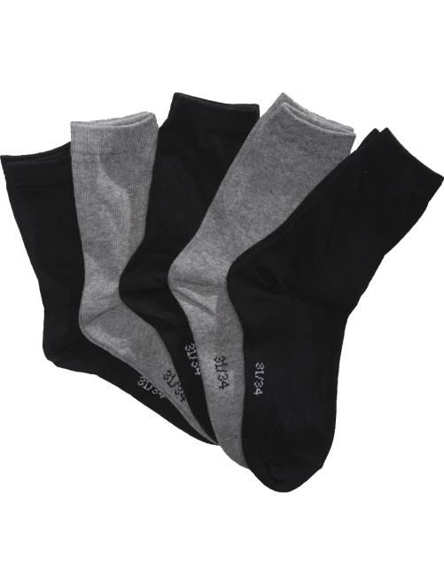 Lote de 5 calcetines                             negro Joven niño