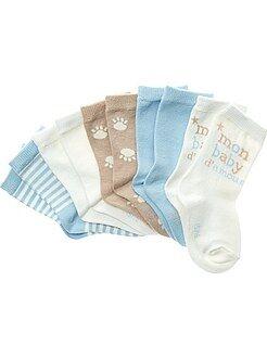 Niño 0-36 meses Lote de 5 pares de calcetines