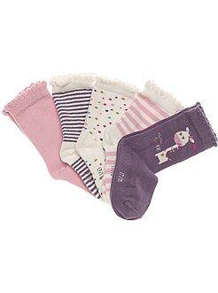 Niña 0-36 meses Lote de 5 pares de calcetines