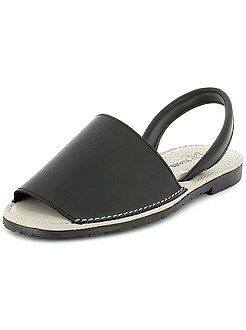 Zapatos hombre - Mallorquinas de piel