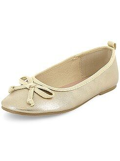 Zapatos, zapatillas - Manoletinas de piel sintética - Kiabi