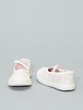 8cce71e114c Zapatos - Manoletinas de tela con elástico - Kiabi