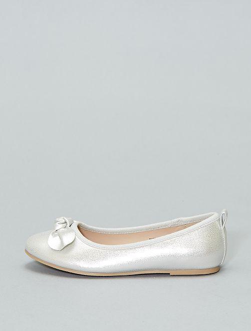 Manoletinas irisadas                                         plata Chica