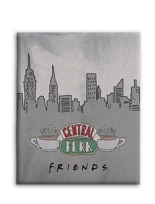 Manta 'Friends' de tejido polar                             gris