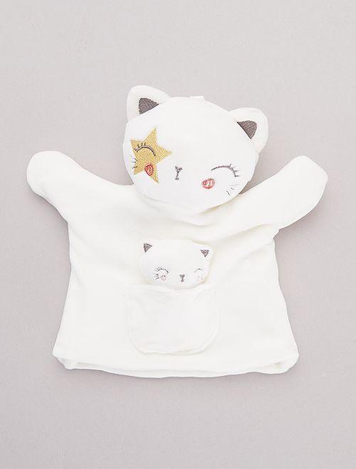 Marioneta de 'oso panda' roquero                     gato