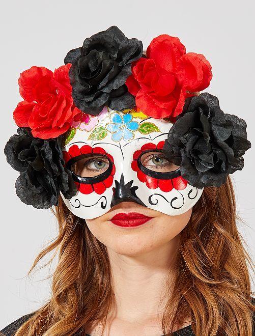 Máscara 'Día de los Muertos'                             BLANCO