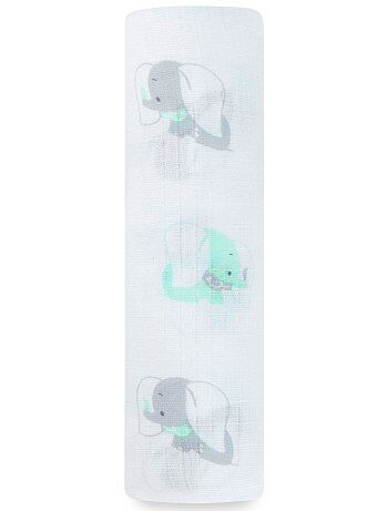 Maxi-manta de bebé de algodón puro con estampado de 'Disney Baby'                                                                 verde/gris Bebé niña