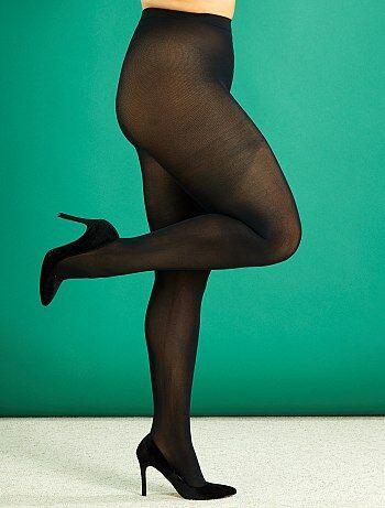 b93f8aa89eac Tallas grandes mujer - Medias ligeras 200D tallas grandes - Kiabi
