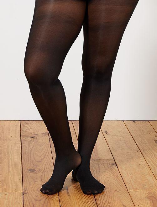 Medias ligeras 40D tallas grandes                             negro