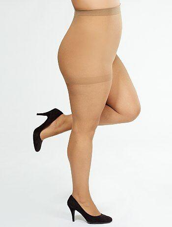 Tallas grandes mujer - Medias 'Sanpellegrino' supermaxi 20D - Kiabi