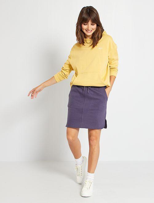Minifalda de felpa                                         azul oscuro