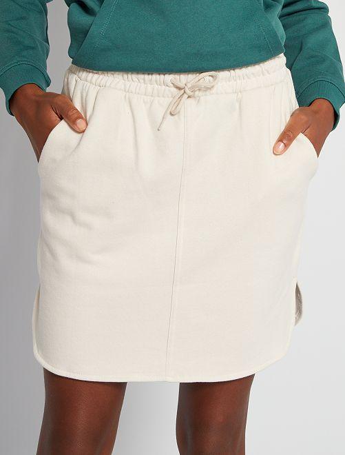 Minifalda de felpa                                         blanco caliza