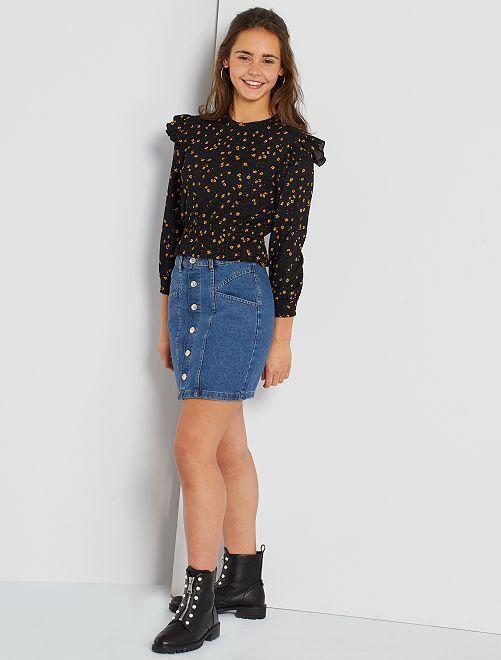 Minifalda vaquera                             AZUL