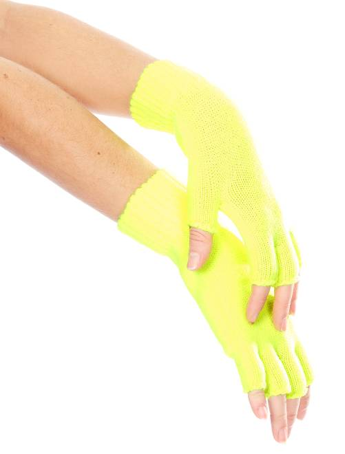 Mitones de rejilla flúor                                                     amarillo