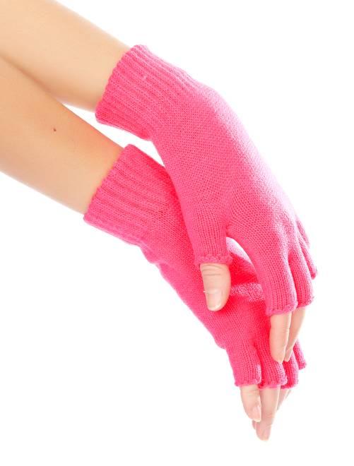 Mitones de rejilla flúor                                                     rosa Accesorios