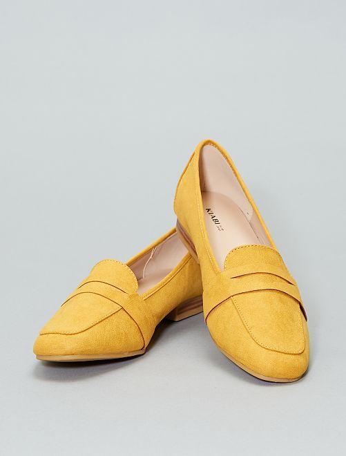 Mocasines de antelina                                 amarillo