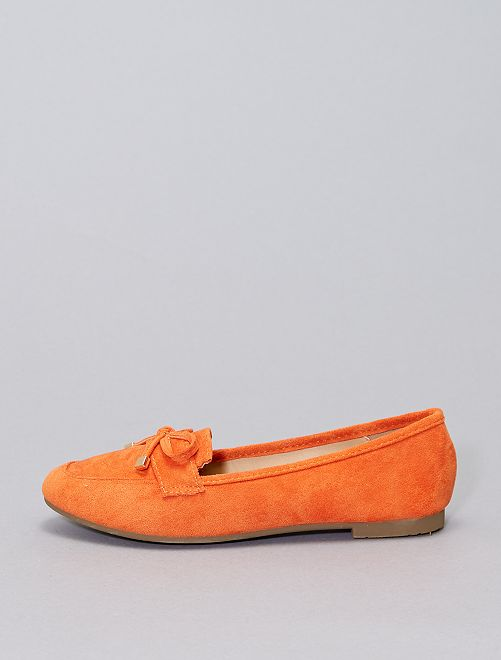 Mocasines de antelina                                         naranja