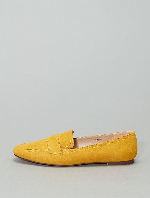 Mocasines de microfibra                                                     amarillo