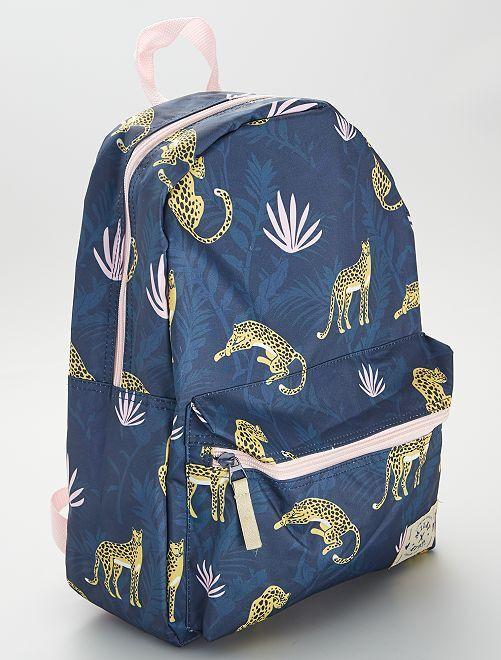 Mochila estampada 'selva'                             azul
